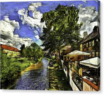 Bohemian Village Canvas Print by Jean-Marc Lacombe