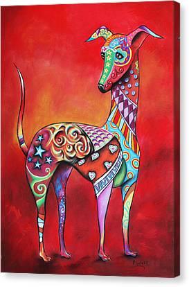 Italian Greyhound  Canvas Print by Patricia Lintner