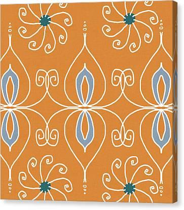 Sari Canvas Print - Boho Ornamental 1- Art By Linda Woods by Linda Woods