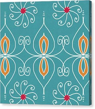 Sari Canvas Print - Boho Ornamental 3- Art By Linda Woods by Linda Woods