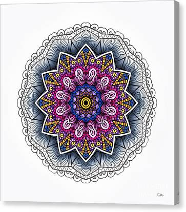 Canvas Print featuring the digital art Boho Star by Mo T