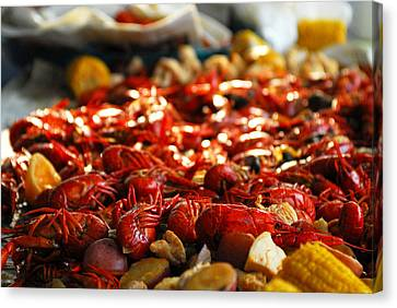 Boiled Crawfish Southern Style Canvas Print by Wayne Archer