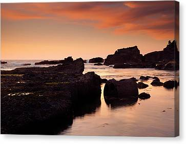 Boiler Canvas Print - Boiler Bay Sunset by Mike  Dawson