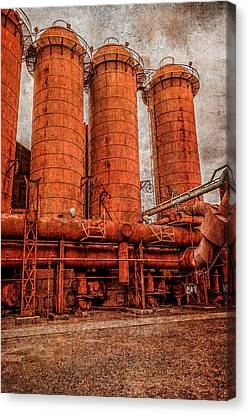 boilers at Sloss Canvas Print by Phillip Burrow