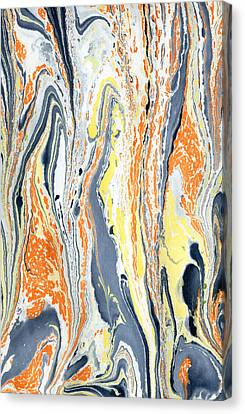 Canvas Print featuring the painting Boiling Lava by Menega Sabidussi
