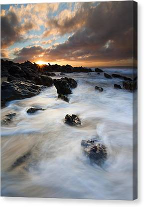 Boiling Tides Canvas Print by Mike  Dawson