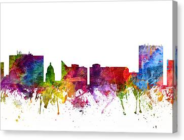 Skyline Canvas Print - Boise Cityscape 06 by Aged Pixel