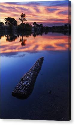 Boise River Sunset Serenity Canvas Print