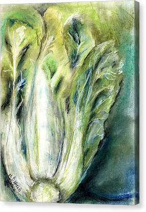 Canvas Print featuring the painting Bok Choy by Marilyn Barton