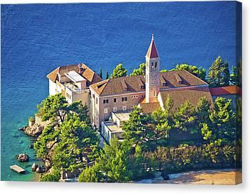Bol Church And Monastery On Brac Coast Canvas Print
