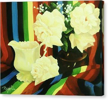 White Gardenia Canvas Print - Bold And Beautiful by Carol Reynolds
