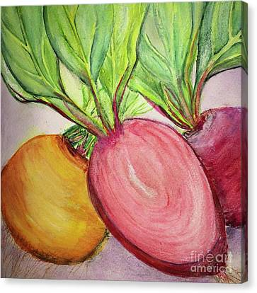 Canvas Print featuring the painting Bold Beets by Kim Nelson