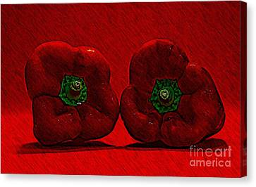 Bold Bells Canvas Print by Clare Bevan