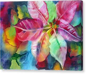 Bold Bloom Canvas Print by Maritza Bermudez
