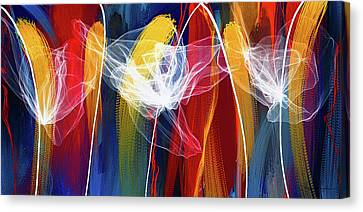 Bold Colors Canvas Print - Bold Colors Modern Abstract Art by Lourry Legarde