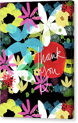 Bold Floral Thank You Card- Design By Linda Woods Canvas Print by Linda Woods