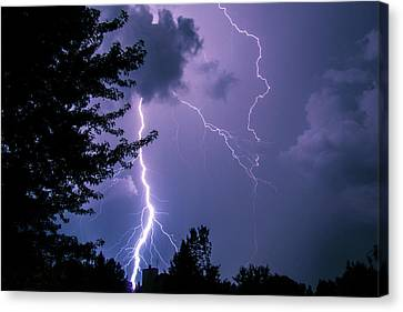 Bold Lightning Strokes Canvas Print