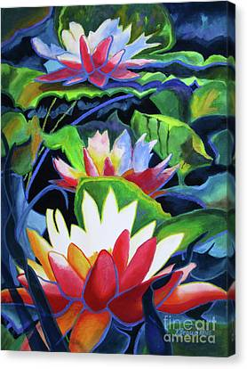Canvas Print featuring the painting Bold Lilypads by Kathy Braud