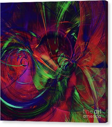Canvas Print featuring the digital art Bold Red by Deborah Benoit