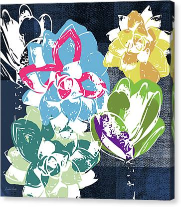 Succulent Canvas Print - Bold Succulents 2- Art By Linda Woods by Linda Woods