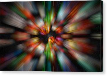 Bolders In Space Canvas Print by Cherie Duran