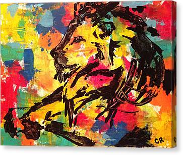 Canvas Print featuring the painting Boldness by Chris Rice