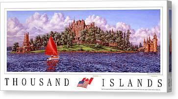 Boldt's Castle Poster Canvas Print