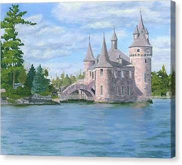 Canvas Print featuring the painting Boldt's Power House by Lynne Reichhart