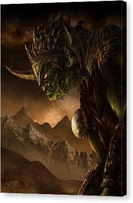 Bolg The Goblin King Canvas Print by Curtiss Shaffer