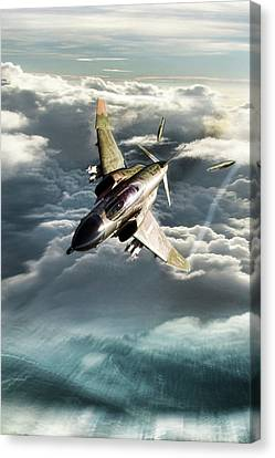 Bolo Leader Robin Olds Canvas Print by Peter Chilelli