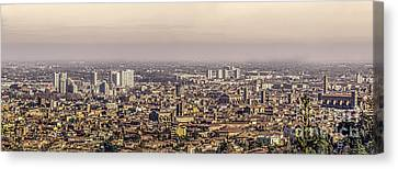 Bologna Aerial View Canvas Canvas Print by Luca Lorenzelli