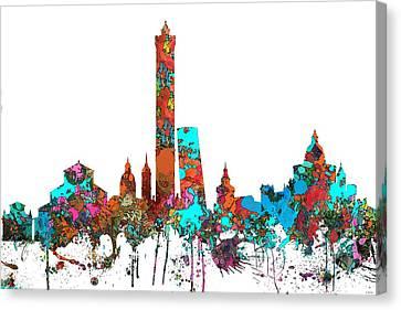 Bologna Italy  Skyline  Canvas Print by Marlene Watson