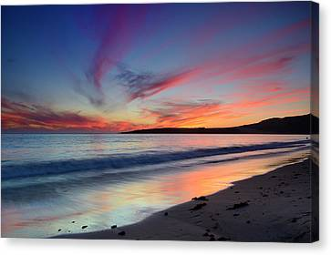 Bolonia Beach Sunset Canvas Print