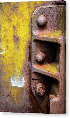 Bolted Iron Canvas Print by Karol Livote
