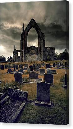 Bolton Abbey In The Stormy Weather Canvas Print by Jaroslaw Blaminsky