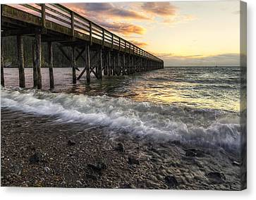 Bowman Bay Sunset 2 Canvas Print by Mark Kiver