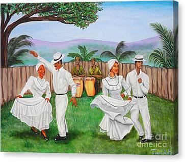 Bomba Dance Canvas Print by Juan Gonzalez