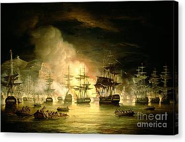 Explosion Canvas Print - Bombardment Of Algiers by Thomas Luny