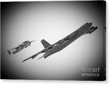 Bomber Pair Canvas Print by Bob Mintie
