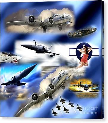 Bombers Canvas Print by John Rizzuto