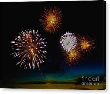 Bombs Bursting In The Air Canvas Print by Robert Bales
