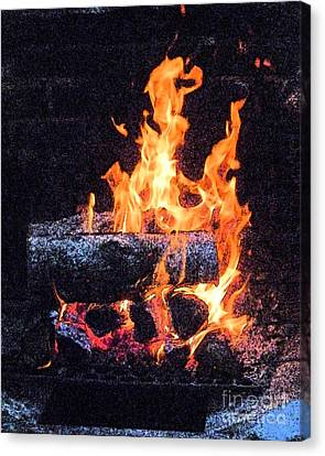 Canvas Print featuring the photograph Bon Fire In Fresco by Margie Avellino