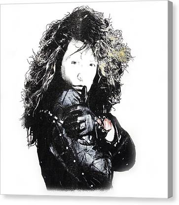 Canvas Print featuring the digital art Bon Jovi by Gina Dsgn