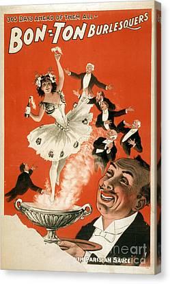 Bon-ton Burlesque Vintage Poster 1 Canvas Print by Edward Fielding