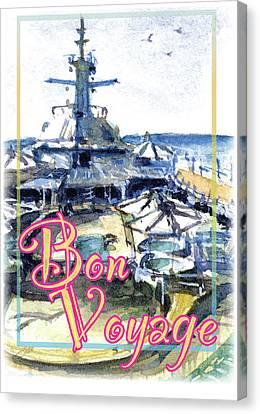 Bon Voyage Cruise Canvas Print by John D Benson