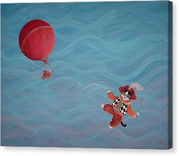 Canvas Print featuring the painting Bon Voyage by Dee Davis