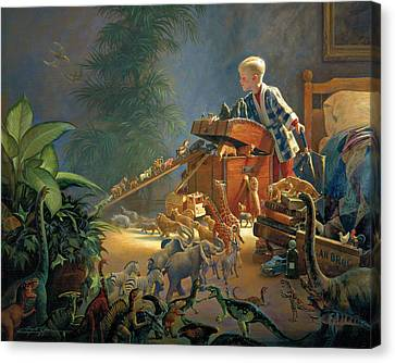 Children Canvas Print - Bon Voyage by Greg Olsen