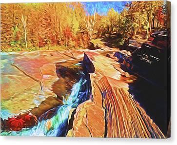 Bonanza Falls Canvas Print by Dennis Cox WorldViews