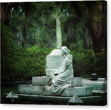 Bonaventure Cemetery Statue Canvas Print by Mark Andrew Thomas