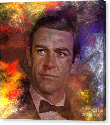 Bond - James Bond - Square Version Canvas Print by John Robert Beck